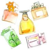 Frascos de perfume ajustados. Imagem de Stock Royalty Free