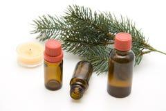 Frascos de petróleo da fragrância Fotos de Stock