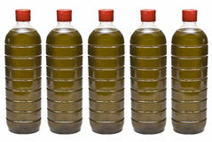 Frascos de petróleo verde-oliva. Imagem de Stock