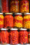Frascos de pimentas brasileiras Imagens de Stock