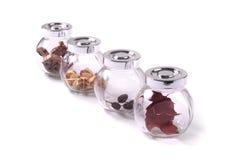 Frascos de vidro imagem de stock royalty free