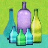 Frascos de vidro Ilustração Stock