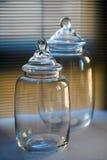 Frascos de vidro Foto de Stock