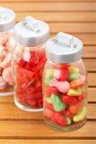 Frascos de vidro dos doces Fotografia de Stock Royalty Free