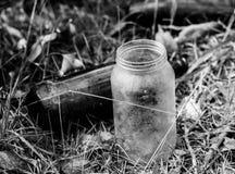 Frascos de vidro velhos Imagem de Stock