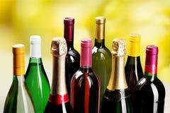 Frascos de vinho Imagens de Stock