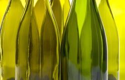 Frascos de vinho vazios imagem de stock