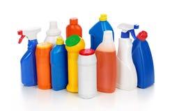 Frascos detergentes plásticos fotografia de stock