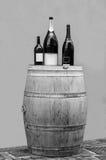 Frascos do barril e de vinho Fotografia de Stock Royalty Free