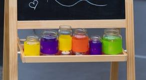 Frascos do vidro de Colorfull Imagens de Stock