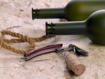 Frascos e corkscrew da videira Imagem de Stock Royalty Free