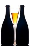Frascos e vidro de Champagne Foto de Stock