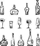 Frascos e vidros Imagem de Stock