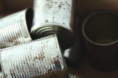 Frascos metálicos Imagens de Stock