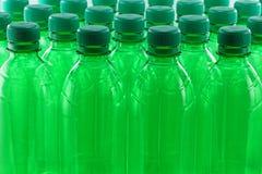 Frascos plásticos Imagem de Stock