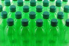 Frascos plásticos Foto de Stock