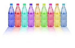 Frascos plásticos coloridos Fotografia de Stock Royalty Free