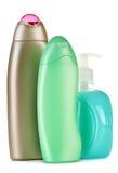 Frascos plásticos de produtos do cuidado e de beleza do corpo Imagens de Stock