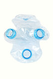 Frascos plásticos usados Simbol da máscara de gás Isolado Fotografia de Stock