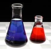 Frascos químicos Fotos de archivo libres de regalías