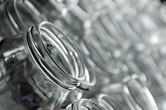 frascos vazios de conservas caseiros Imagem de Stock Royalty Free