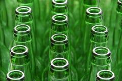 Frascos verdes Imagens de Stock