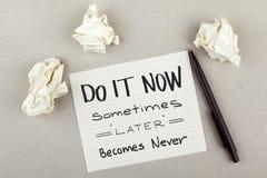 Frase/cita inspiradas de motivación del negocio Imagen de archivo libre de regalías