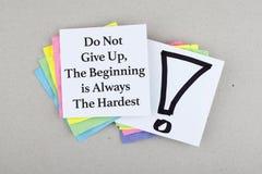 Frase/cita inspiradas de motivación del negocio Imágenes de archivo libres de regalías