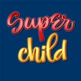 Frase colorida de la caligrafía del niño estupendo en fondo oscuro stock de ilustración