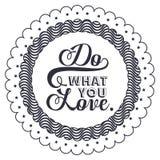 Frase da atitude sobre o amor dentro do projeto do quadro Imagem de Stock