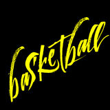 Frase da caligrafia do basquetebol isolada no fundo Fotos de Stock