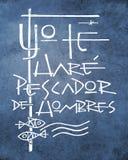 Frase de Bliblic: Le haré al pescador de gente stock de ilustración