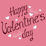 Frase de la caligrafía del día del ` s de la tarjeta del día de San Valentín - aime del te de Je ilustración del vector