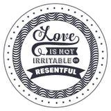 Frase di atteggiamento circa amore dentro progettazione della struttura Immagini Stock Libere da Diritti