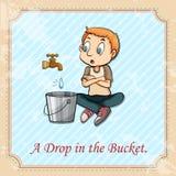 Frase hecha inglesa stock de ilustración