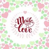 Frase inspirada feita com amor Foto de Stock Royalty Free