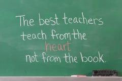 Frase ispiratrice educativa Fotografie Stock
