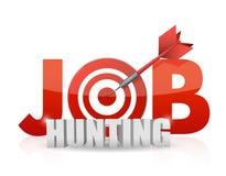 Frase Job Hunting aislado en blanco. Fotografía de archivo