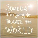 Frase motivazionale ispiratrice di citazione di viaggio di viaggio Fotografia Stock