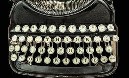 Frase: Pensi prima che scriviate fotografie stock libere da diritti