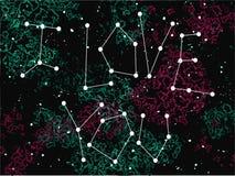 Fraseie eu te amo numa forma da constelação no fundo do universo Ilustração Royalty Free