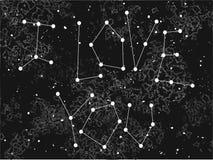 Fraseie eu te amo numa forma da constelação no fundo do universo Ilustração do Vetor