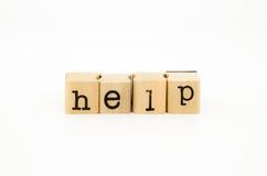 Fraseio da ajuda, auxílio e conceito do apoio imagem de stock royalty free