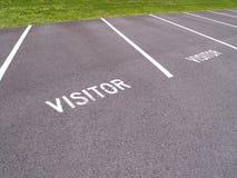 Fraseio do visitante pintado em um pavimento Fotografia de Stock