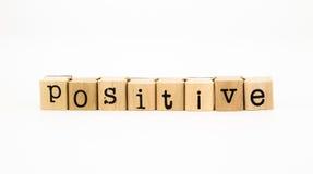 Fraseio positivo, conceito de pensamento Fotografia de Stock Royalty Free