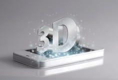 Fraseología tridimensional en smartphone Imágenes de archivo libres de regalías