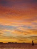 fraser κατακόρυφος ηλιοβασ&iot Στοκ Φωτογραφίες