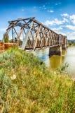 Fraser Bridge storico in Quesnel, BC, il Canada fotografia stock libera da diritti