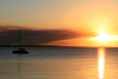 Fraser Insel-Sonnenuntergang Lizenzfreie Stockfotos