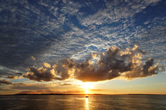 Fraser Island - Australia. Sunset on Fraser Island - Australia Stock Photos